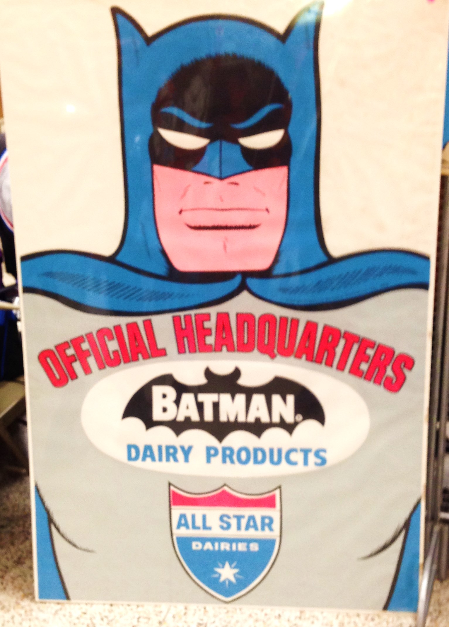 batman comic toy poster photo dairy promo
