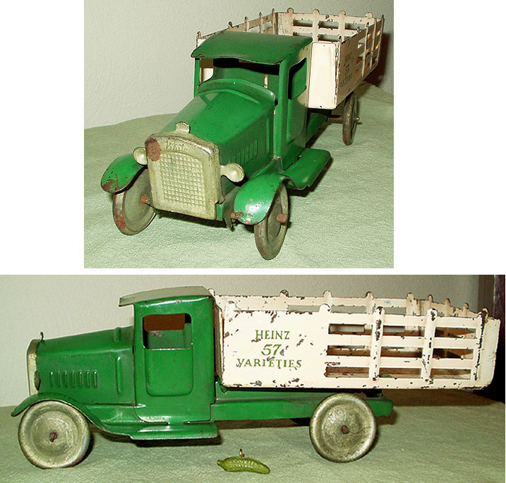 rare metalcraft Heinz pickles pressed steel toy truck advertising toy picture