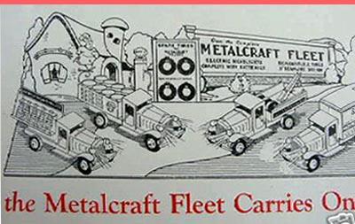metalcraft toy truck ad art deco
